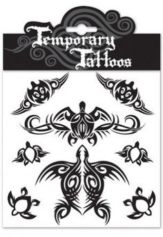 Tribal Honu Temporary Tattoos by tikimaster. $5.99. Wear these Tribal Honu Temporary Tattoos as a sign of long life. The Honu, or Hawaiian sea turtle is the Hawaiian symbol for longevity, peace, humility and the spirit within. Experience all the fun with non commitment Hawaiiana temporary tattoos. These tattoos are great for events, parties or gifts. It is safe, non-toxic, and FDA approved. Easy to apply and remove. Temporary tattoos are waterproof. Each package contai...
