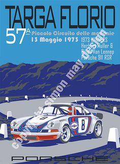 Retro Race Prints - Simon May Design