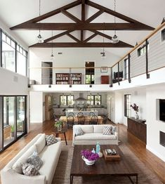 Great Room Open Concept Kitchen Living Dining Room Contemporary