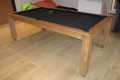 Contemporary Pool Table Range, Oak colour 5 with Black cloth. www.luxury-pool-tables.co.uk
