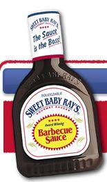 I loooooove Sweet Baby Ray's... so I guess I'll try this. :-) Sweet Baby Ray's crock pot chicken.  4-6 pieces boneless, skinless chicken breast  1 bottle SBR's BBQ sauce  1/4 C vinegar  1 t red pepper flakes  1/4 C brown sugar  1/2 t garlic powder  * Mix it all sauce ingredients, pour over chicken & cook on low heat for 4-6 hours.