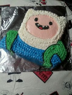Finn from Adventure Time cake!