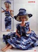 Barbie Crochê Miniaturas Artesanato e Coisas Mais: Vestido de Barbie ...