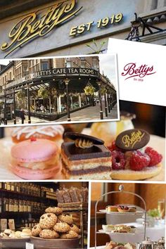 Betty's Tea Rooms, Harrogate, England. Went here on our trip to England and Scotland. LOVED it.