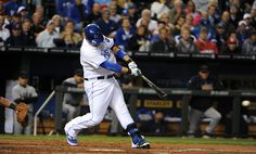 CrowdCam Hot Shot: Kansas City Royals designated hitter Billy Butler drives in a run with a single against the Cleveland Indians in the first inning at Kauffman Stadium. Photo by John Rieger