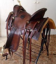 Old West Cowboys | ... Horse Saddles, Old Time Slick Fork, Old West Cowboy Horse Saddles