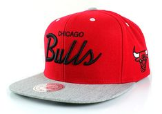 e6eaa5dc5aa NBA Mitchell   Ness Special Script Heather Visor Adjustable Snapback Hat (Chicago  Bulls)  29.99