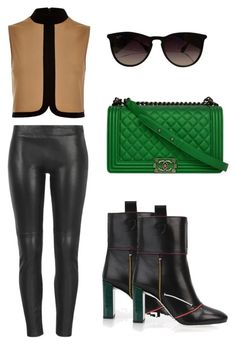 """Untitled #136"" by margaritavzlal on Polyvore featuring River Island, MuuBaa, Chanel, Fendi and Ray-Ban"