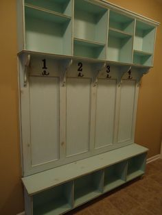 Happy Birthday to me, from my extraordinarily gifted husband! Thanks to my dear friend for the beautiful finish! Lockers ala Stewart:)
