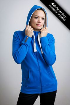 #Recolution - #Basic - Frauen Zipper - blau - 89,90€ - 100% organic cotton and fairtrade - Versand kostenlos