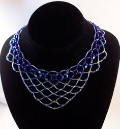 Lace Necklace Beading Tutorial in PDF by zaneymay on Etsy, $5.00