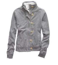 Dark Heather Grey Aerie Cozy Sweatshirt - Snuggle up to a plush, sherpa-lined layer! #Aerie