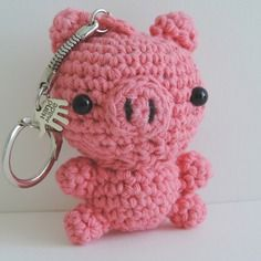 Porte clés cochon crochet amigurumi kawaii
