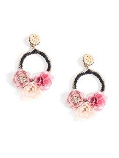Need You Now Earrings: Blush Big Earrings, Black Earrings, Unique Earrings, Clip On Earrings, Statement Earrings, Earrings Handmade, Beaded Rings, Polymer Clay Jewelry, Leather Jewelry