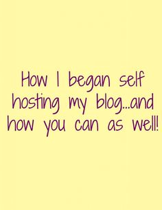 Learning how to self host, part two. Click through for great blogging tips on how to self host your blog!