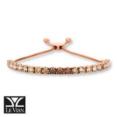 LeVian Neopolitan Opal Bolo Bracelet in14K Strawberry Gold 2017