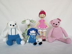 Crochet dolls. Lalki zrobione na szydełku. hand made dolls cotton crochet toy gift girl lalki szydełko zabawka ręczna praca ręczne robótki bawełna