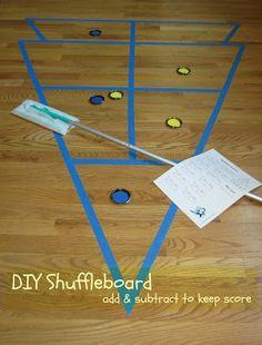 Relentlessly Fun, Deceptively Educational: DIY Shuffleboard Showdown
