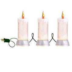 "RAZ Three Strand Candle Lamp  Silver/White Made of Plastic Measures 64"", Lighted Length 20"" UL Certified String of 3 with 11"" X 4"" Candles RAZ Exclusive  RAZ ""Sentimental Season"" Collection"