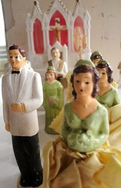 Vintage Cake topper Bride and Groom - saw these at Wildwood in Titusville $2.95 ea