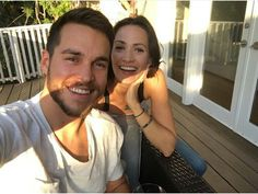 Chris wood and containment costar Kristin Gutoskie. Cutest couple on TV today.