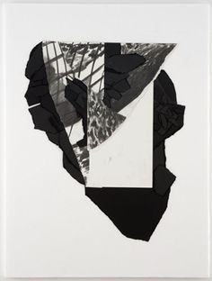 Paul Chan, Fold into itself – (for 5th Light), 2006, Paper and charcoal on Styrofoam, 32 x 23 7/8 x 3/4 in