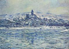 """""""Vetheuil, Ice Floes"""" ・ by Claude  Monet ・ Completion Date: 1881 ・  Style…"""