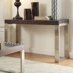 Wade Logan Jonestown Console Table Finish: Espresso