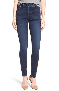 Free shipping and returns on Madewell High Rise Skinny Jeans (Hayes Wash) at Nordstrom.com. Crafted from luxuriously soft cotton-blend denim rinsed in a deep indigo wash, these high-rise skinny jeans are touched up with crisp shadow creases and subtle fading along the thighs.