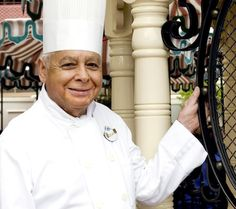 Oscar Martinez, Disneyland Resort longest tenured Cast Member who makes Oscar's Choice at Carnation Cafe on Main Street.  He is always out checking on guests, what a sweet man he is!! He would always go table to table when we ate there.
