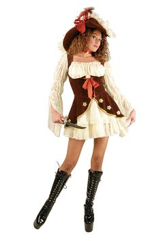 (no hat) Teen Suede Lacy Pirate Costume (Size: Teen Halloween Costumes For Teens, Cute Costumes, Costumes For Women, Tween Costumes, Halloween 2020, Halloween Ideas, Black Lace Leggings, Sibling Costume, Pirate Dress