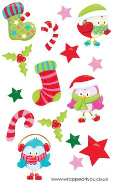 Christmas Die Cut Planner Stickers great for use in Erin Condren, Kiki K, Filofax, Kate Spade, or any planner