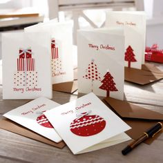 Weihnachtskarten-Set, 6-tlg. im GINGAR Online Shop Mais