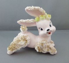 Vintage ARNART Porcelain PINK Spaghetti Rabbit Easter Spring MIJ Japan Figurine | Collectibles, Animals, Farm & Countryside | eBay!