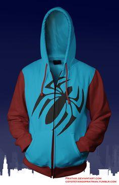 Scarlet Spider (Ben Reilly) Hoodie by prathik.deviantart.com on @deviantART