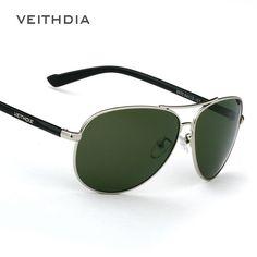 $26.83 (Buy here: https://alitems.com/g/1e8d114494ebda23ff8b16525dc3e8/?i=5&ulp=https%3A%2F%2Fwww.aliexpress.com%2Fitem%2FDark-green-lenses-Men-s-polarized-sunglasses-retro-goggle-sun-glasses-men-s-fashion-driver-mirrors%2F32514346095.html ) Luxury Brand Veithdia  Dark Green Lenses Mens Polarized UV400 Sunglasses For Men Driving Outdoor Sports Fishing Male Sun Glasses for just $26.83