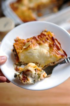 Creamy Chicken Caesar Lasagna - my husband's new favorite! | pinchofyum.com