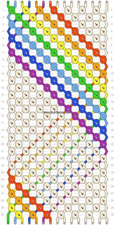 Normal friendship bracelet pattern added by qlucienne. Yarn Bracelets, Embroidery Bracelets, Bracelet Crafts, Diy Friendship Bracelets Patterns, Mo S, Bracelet Tutorial, Jewelry Patterns, Bracelet Designs, Bracelet Making
