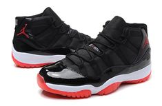 "Air Jordan 11 XI Retro ""Bred"" Men's Basketball Shoes Black/Varsity Red/White"