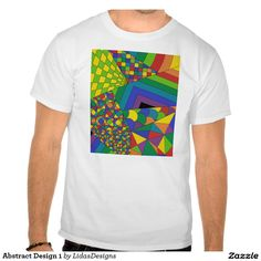 Abstract Design 1 Men's Basic T-Shirt #cool #abstract #colourful #colour #art #geometric #illustration #unique #custom #original #creative #design #tshirts