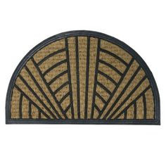 """It's Good to Be Home"" Outdoor Rubber Coir Door Mat - 18"" x 30"" Half Round Door Mat by Rubber-Cal. $34.90. Use these rubber coco doormats for anti-slip matting in your home entryway!. Trap dirt and mud with these rubber coir door mats to make your doorways safer. Protect interior floors from costly damage with this elegant, unique half moon doormat!. Simply shake, brush or rinse this coco rubber doormat for easy cleaning. A half round door mat made with recycled rubber and nat..."