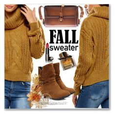 """Knit Sweater"" by jecakns ❤ liked on Polyvore featuring Burberry and vintage"