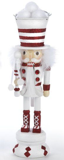 Snowball Bucket Soldier Wooden Hollywood Christmas Nutcracker