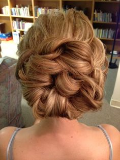 Wedding Hair Updo www.chmakeupartistry.com looks like a big knot