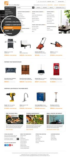 The Home Depot — Website by Shaun Hines, via Behance
