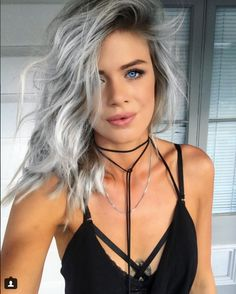 Our very own Meg with her beautiful Icy Blonde ombre. We love experimenting with fashion colours at Verona Hair! www.veronahair.com.au