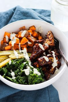 Vegan BBQ Tempeh and