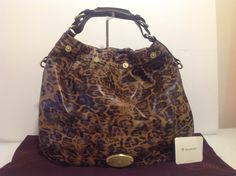 Authentic Mulberry Large Mitzi Hobo in Shiny Brown Leopard Print Leather.  Mint £495 This a6eb868d36ea9
