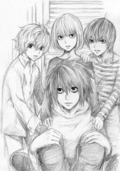 L, Mello, Near, Matt