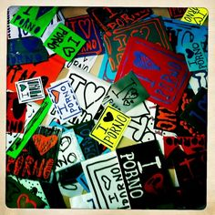 All handmade stickers by lifeisporno streetartists